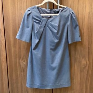 Tahari lined gray dress - perfect for business,